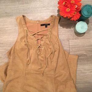 Guess | Faux Suede Lace Up Dress